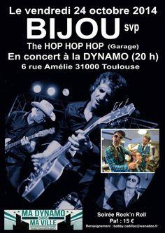 Concert des groupes BIJOU svp et The Hop Hop Hop à la Dynamo, Toulouse (31000), Midi-Pyrénées