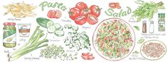 Pasta Salad by Suzanne De Nies - They Draw & Cook