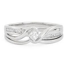 1/3 ct. tw. Diamond Engagement Ring Set in 10K Gold - Bridal Sets & Trios - Engagement - Helzberg Diamonds