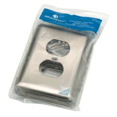 Shop Brainerd 6-Pack 1-Gang Satin Nickel Standard Duplex Receptacle Stainless Steel Wall Plates at Lowes.com