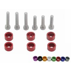 Racing JDM VTEC Solenoid 6mm Cup Washer Kit Fender Washer for Honda B-Series, H-Series with logo