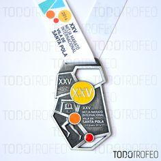 MEDALLA MEDIO MARATÓN DE SANTA POLA 2014.   Diseñamos las medallas para su evento deportivo. Pide su presupuesto a través de: todotrofeo@todotrofeo.com    SANTA POLA HALF MARATHON MEDAL 2014.  We design your sport event medals. Request your budget in: todotrofeo@todotrofeo.com