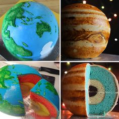 Spherical Concentric Layer Cake Tutorial: How to Bake Scientifically Accurate Cake Planets. We'd love to have the Planet Mars recipe!