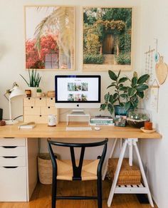 Our Home Office/Guest Bedroom — Black & Blooms – Office Design 2020 Home Office Space, Guest Room Office, Decor, Home, Interior, Old Apartments, Home Office Decor, Solid Wood Dining Chairs, Home Decor