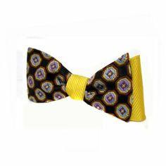 Designer bow ties | ... Lavender - Brown Designer Self-Tie Two Sided Silk Bow Tie: Clothing