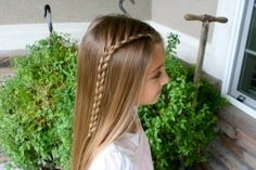 So cute! I can't wait until Kenlee's hair is long enough to try fun things like this!