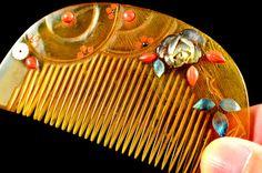 Antique Bekko Hair Comb | Antique Kanzashi Kushi Bekko | Hair Comb Kanzashi Antique Bekko | Kanzashi Hair Comb | Hair Kushi Antique by JapaVintage on Etsy