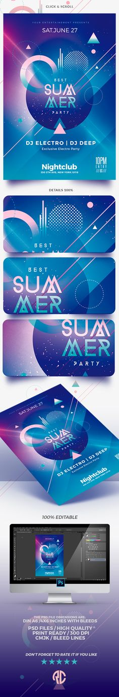 Awesome Minimalist Summer   Flyer Template !