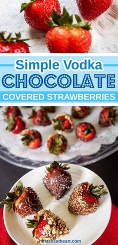 Chocolate Vodka, Chocolate Desserts, Infused Vodka, Chocolate Covered Strawberries, Original Recipe, Finger Foods, Great Recipes, Good Food, Food And Drink