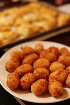 Oven-Fried Spanish Croquettes gimme some oven - yes please. With some Valencian Paella blend in the mix