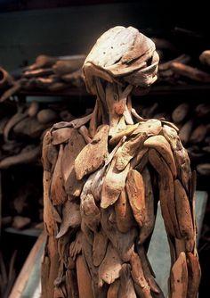 Nagato Iwasaki driftwood sculptures
