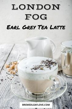 Copycat Starbuck's  London Fog tea latte recipe to make at home.  Make this delicious Earl Grey tea latte recipe that has just the right easy ingredients at home.