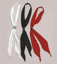 "WX-T-421 Western Scarf Tie - 43"" Black, White or Red"