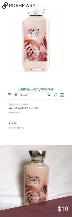 Bath & Body Works Warm Vanilla Sugar Lotion New and Unused  Bath & Body Works Signature Collection Warm Vanilla Sugar Lotion 8oz / 236mL  Shea & Vitamin E Bath & Body Works Makeup