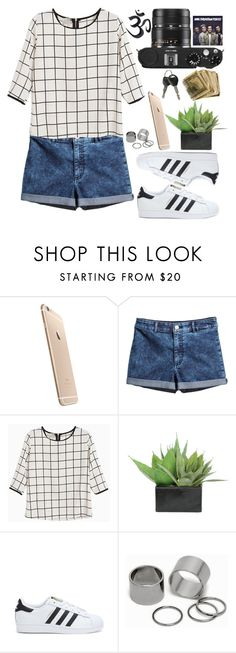 """Baby,we're perfect."" by vane-abreu ❤ liked on Polyvore featuring Leica, H&M, Lux-Art Silks, adidas and Pieces"