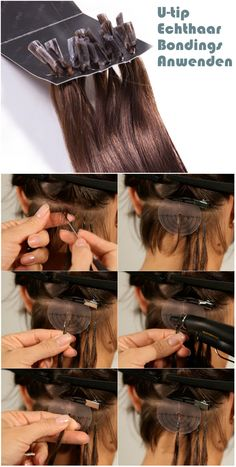 how to use u tip bondings hair extensions