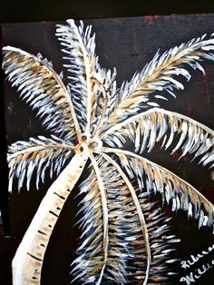 Palm Tree painting in the night