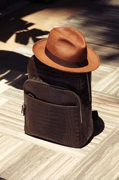 does it suit your style?? crocodile leather chisel , summer hat. | Summer Style for Men