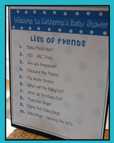 Agenda List Of Events This Is Helpful For The Guests To Know What