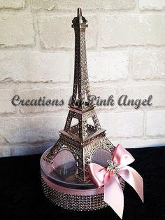 Silver Paris Centerpiece Eiffel Tower by CreationsByPinkAngel