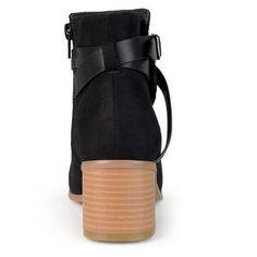 Women's Journee Collection Mara Round Toe Two-Tone Booties - Black 7.5