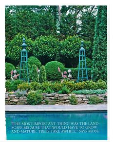Where to start with your outdoor design? As in many past exterior design posts, the answer remains, look up at your home. The clues. Moss Garden, Garden Trellis, My Secret Garden, Garden Structures, Garden Inspiration, Garden Ideas, Dream Garden, Shade Garden, Beautiful Gardens