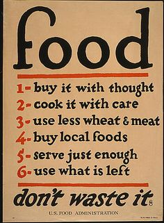 classic posters, food, food and drug administration, free download, graphic design, military, propaganda, public health, public service announcement, retro prints, vintage, vintage posters, war, Food, Don't Waste It - Vintage US Food Administration War Poster