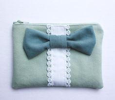 Big Bow ZIpper Wallet - Michael Ann Made