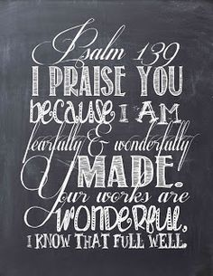 Psalms Chalkboard Art.. Free Printable!