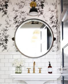 Powder room is a part from the bathroom and usually it is a half bathroom with a suitable vanity and bathroom sink with mirror. You can decorate your powder room in every single style, but it need to fit with… Continue Reading → Home Design, Design Ideas, Design Design, Floral Design, Bathroom Inspiration, Interior Inspiration, Interior Ideas, Bathroom Renos, Bathroom Ideas