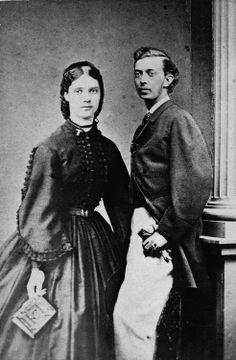 Princess Dagmar of Denmark, later Maria Feodorovna, and her first fiancé Tsarevich Nicholas.