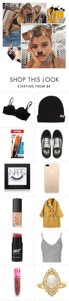 """""""left boy   dangerous"""" by trashmouth-tozier ❤ liked on Polyvore featuring Neff, Rimmel, Vans, NARS Cosmetics, Glamorous, Jeffree Star and Effy Jewelry"""