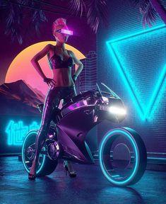 Cyberpunk Pin Up Lady Graphic, Motor Ride, Cyborg Gangster Wife, Female Cyberpunk … - Netklick. Cyberpunk 2077, Cyberpunk Girl, Arte Cyberpunk, Cyberpunk Character, Cyberpunk Fashion, Cyberpunk Games, Fashion Goth, Womens Fashion, New Retro Wave