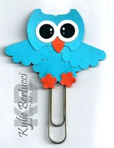 Stampin' Up Hoot Punch Art Bookmark Kit. www.craftykylie.com