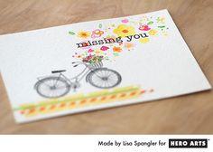 Une belle carte avec le tampon vélo