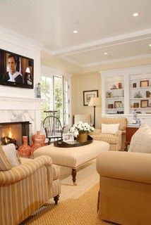 Family room Lerner - traditional - family room - los angeles - by DTM INTERIORS