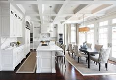 ceiling!! Kingsway Home - contemporary - kitchen - toronto - Lisa Petrole Photography