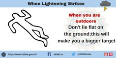 lie flat on the ground; this will make you a bigger target. Lightning Safety, Target, Management, Author, Make It Yourself, Education, Flat, Bass, Writers