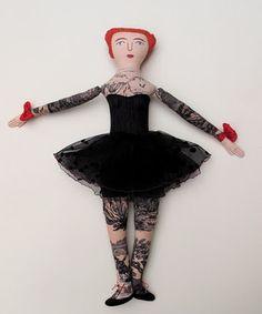 Tattooed doll by Mimi Kirchner
