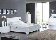 Chambre blanc laqué