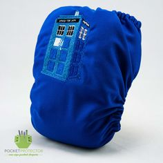 Doctor Who TARDIS Inspired - One-size (OS) Pocket Cloth Diaper and Microfiber Insert. $28.95, via Etsy.