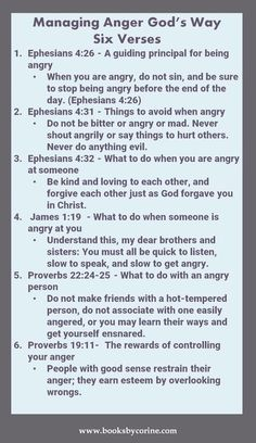 Managing Anger God's Way  #anger #anger management #angerbook Gary Chapman Taming a Powerful Emotion Anger management for Kids. Biible verses anger