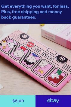 66e995c88f5 Cute Cartoon School Bus Soft TPU Rubber phone case shell for iphone 6 6 plus