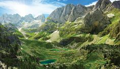 View of Albanian Alps in the National Park of Theth