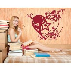 "Style and Apply Tendril Heart Wall Decal Size: 31"" H x 25"" W, Color: Dark Red"