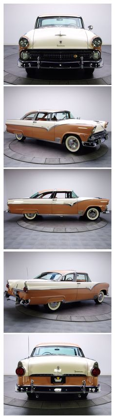 1955 Ford Fairlane Crown Victoria, Brown and White.
