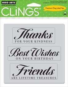 Hero Arts Cling Stamp FRIENDS ARE TREASURES 2011 Rubber Unmounted CG277