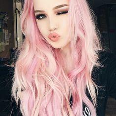 50 Sweeet Cotton Candy Hair Ideas That Are As Aye-pleasing As Can Be - Highpe Cotton Candy Hair, Twisted Hair, Corte Y Color, Coloured Hair, Dye My Hair, Grunge Hair, Mermaid Hair, Rainbow Hair, Gorgeous Hair