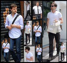 I love it when Josh wears white shirts.