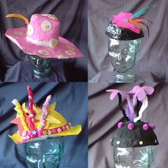 Paper Mache hats would be a fun project for Mardi Gras, Easter, or Spring.